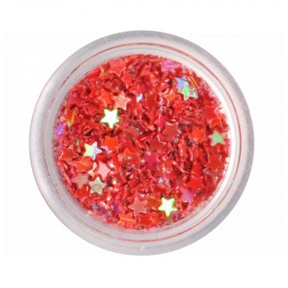 Red Nail Plastic Stars