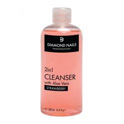UV Gel Cleanser 500ml - Strawberry aroma - With  Aloe Vera