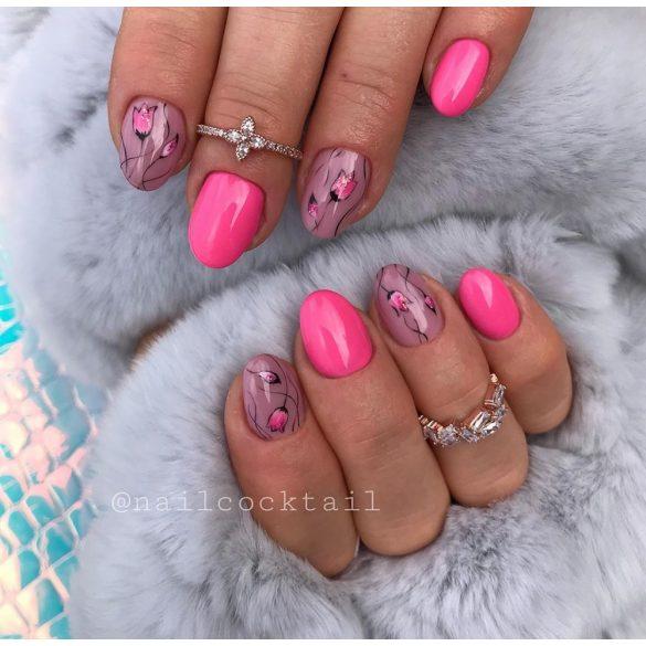 Gel Nail Polish 4ml - DN048 - Neon Pink - Gel Polish