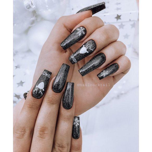 Gel Nail Polish Top Silver - No Wipe  7 ml