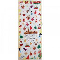 Nail art Christmas Holiday stickers- HOT193