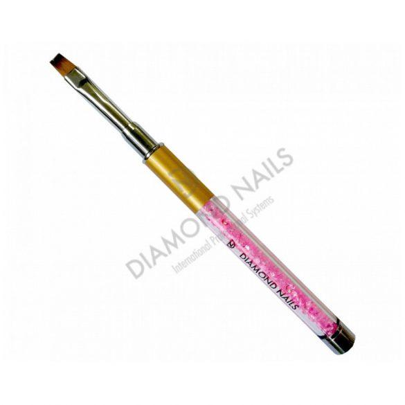 Professional Gel Brush #6 with pink rhinestones