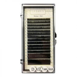 1D Classic Individual Lash Extension (mix 7-14mm) 0,12mm Thickness