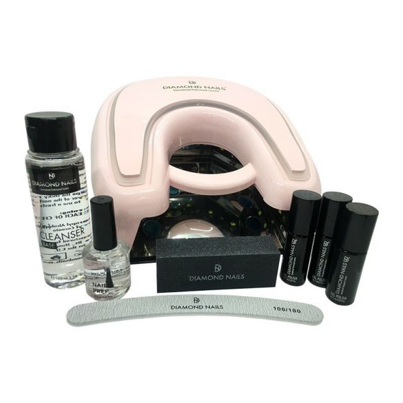 Premium Gel Polish Starting Set with Extreme 36w UV/LED Lamp (rose)