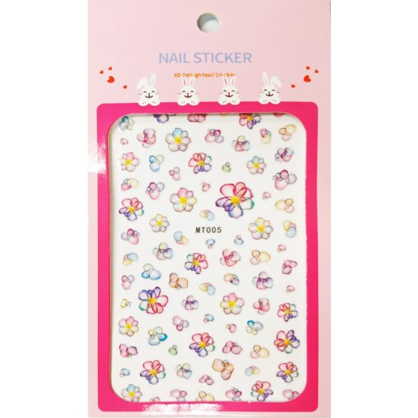 Nail art Watercolor flowers stickers- MT005