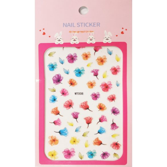 Nail art Colorful Flowers and Petals stickers- MT008