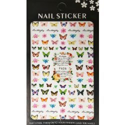 Nail art Butterflies and Flowers #2 stickers- F626