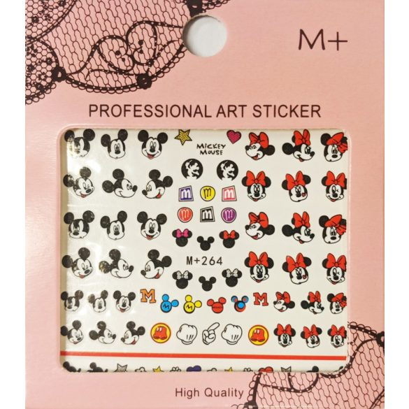Nail art Mickey and Minnie Mouse stickers- MP264