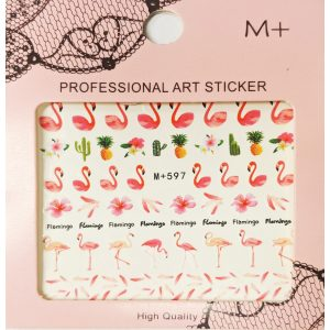 Nail art Flamingo stickers- MP597