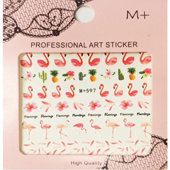 Nail art Strawberries and White Flowers stickers- WG005