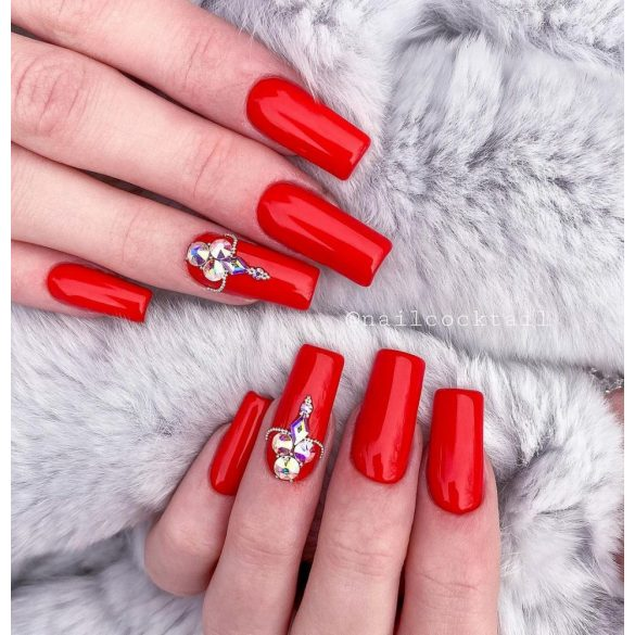 Gel Nail Polish - 4 ml DN272 - True Red - Gel Polish