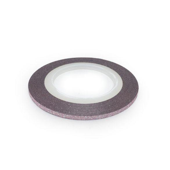 Nail Art Stripe Stickers - Matte Shimmering Light Rose (2mm)