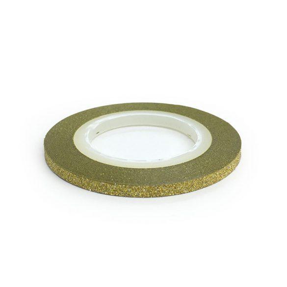 Nail Art Stripe Stickers - Matte Shimmering Gold (3mm)