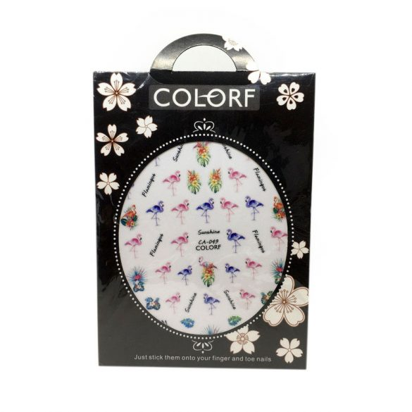Nail Art Stickers - CA049 - Exotic Flowers and Flamingos