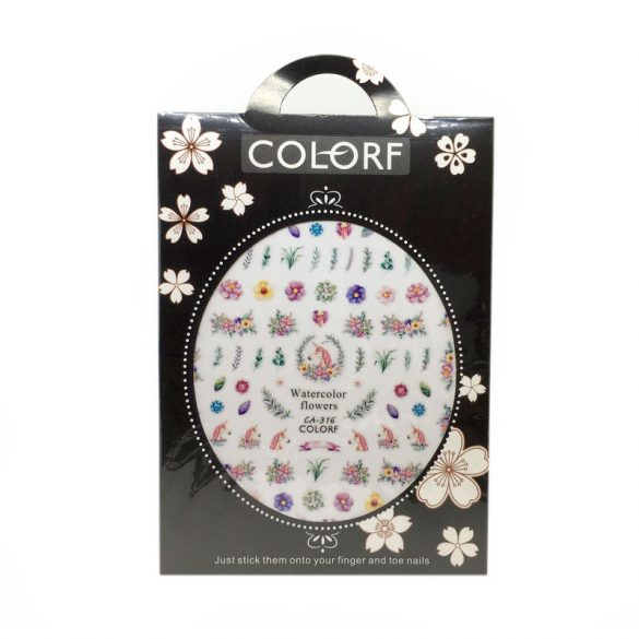 Nail Art Stickers - CA316 - Spring Flowers and Unicorns