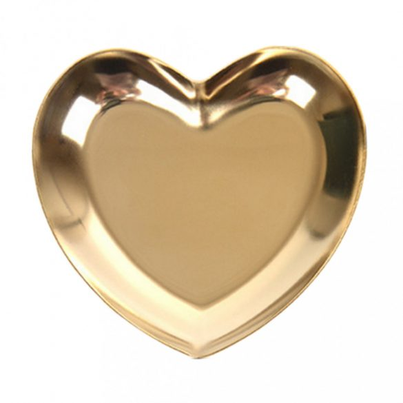 Heart Shaped Stainless Steel Rhinestone and Nail Art Accessories Holder