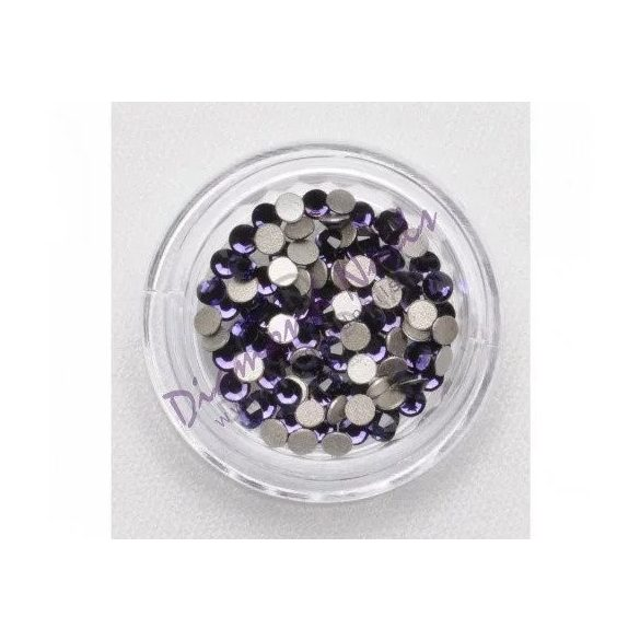 Large Dark Violet Rhinestones, 100pcs