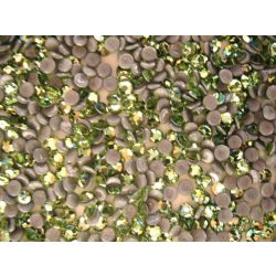 Iron on Swarovski Rhinestones,Light Green 50pcs